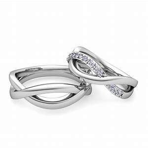 matching wedding bands diamond infinity wedding ring in With infinity band wedding ring