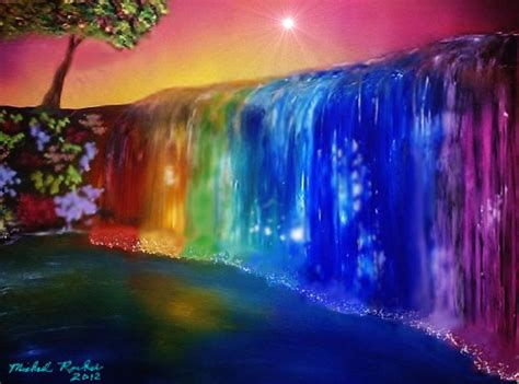 Beautiful Waterfalls With Rainbows Images
