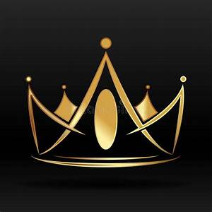 Golden Crown For Logo And Design Stock Vector - Image ...