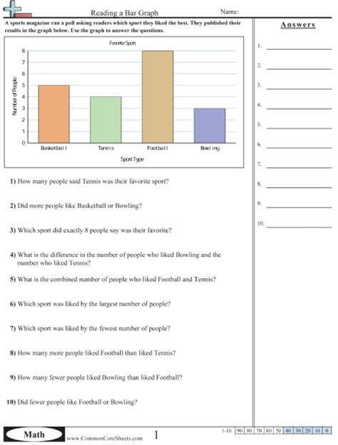 bar graph worksheets grade 3