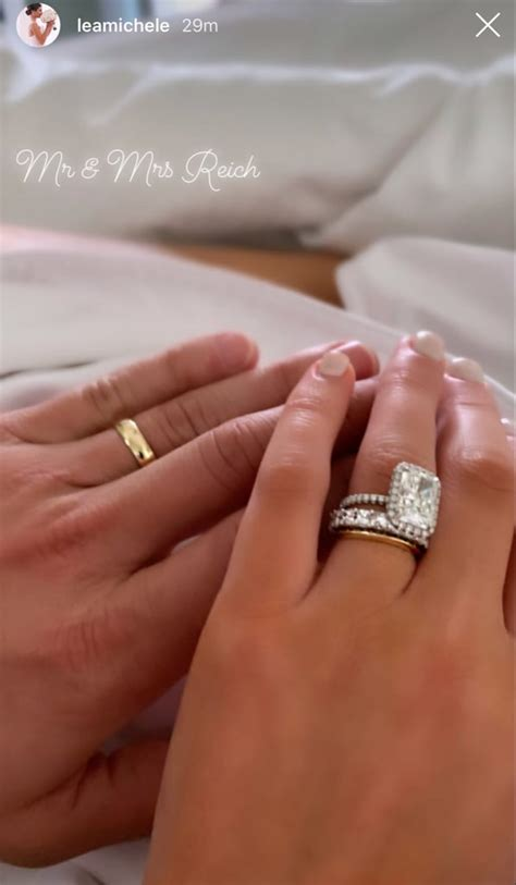 lea michele s wedding ring popsugar fashion