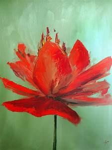 Single Flower Painting by Lucas Armstrong