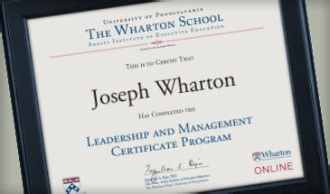 leadership  management certificate program  wharton