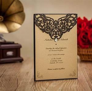 hawaiian wedding invitations black rhinestone laser cut With laser cut muslim wedding invitations