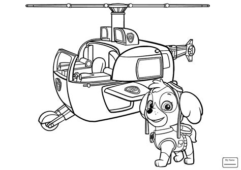 Paw Patrol Everest Coloring Page At Getcolorings.com