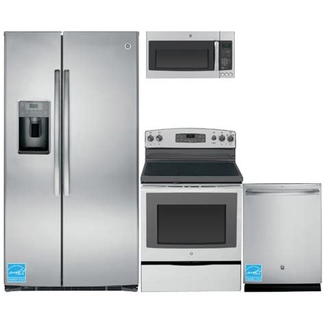 ge stainless steel complete kitchen package gsehsh