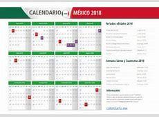 Calendario 2018 MÉXICO Todos los feriados y festivos en