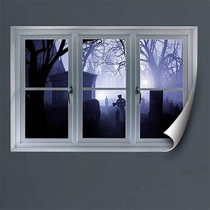 graveyard instant window wall decal shop fatheadr for With faux window wall decal for home