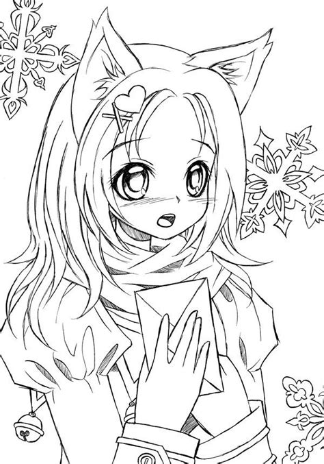 catgirl lineart by LiaDeBeaumont Mermaid coloring pages