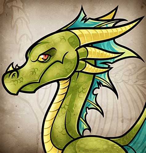 draw  easy cartoon dragon step  step dragons