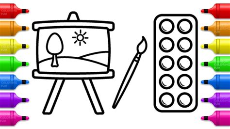 coloring set painting set coloring book for learn colors with