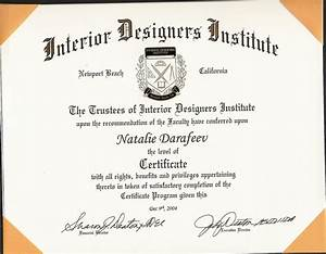 Custom home plans interior design certification for Interior designer certificate program