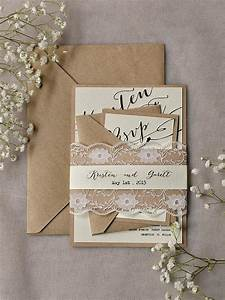 rustic lace wedding invitations 20 calligraphy wedding With wedding invitations recycled paper uk