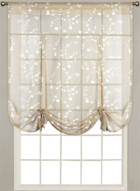Tie Up Curtains by Top 10 Kitchen Curtains Ebay