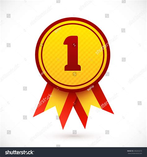 14764 award ribbon icon vector award ribbon place winner number stock vector