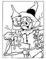 Wizard Oz Coloring Scarecrow Pages Tin Drawing Colouring Printable Witch Dorothy Being Different Land Trouble Wicked Buddy Monkeys Princess Situations sketch template