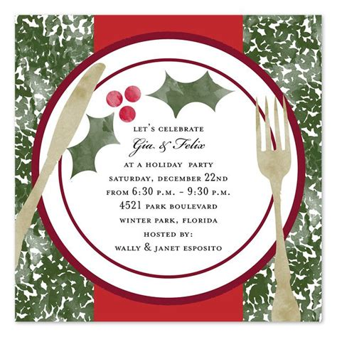 free christmas dinner invitations christmas dinner invitation template free holiday dinner