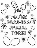 Easter Coloring Printable Eggs Special Tra sketch template