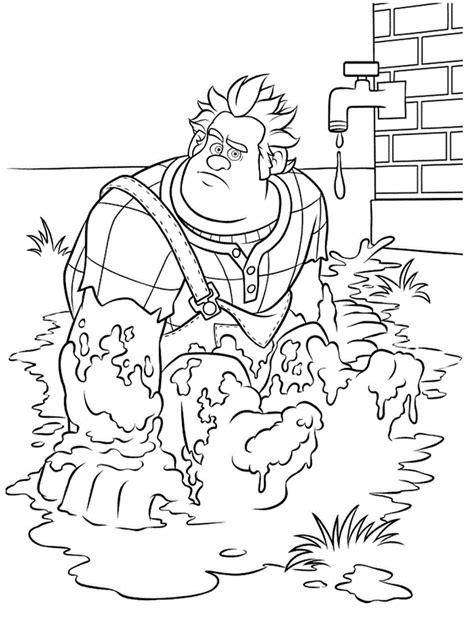 wreckitralph  printable coloring pages