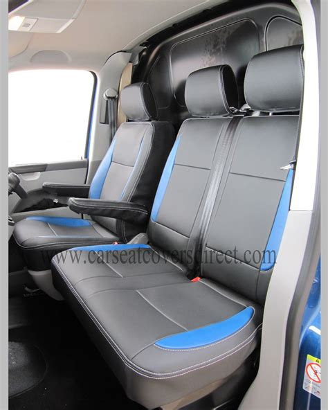 volkswagen vw transporter  black  blue seat covers