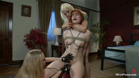 Aiden Starr Violet Monroe Lorelei Lee In Redhead Is