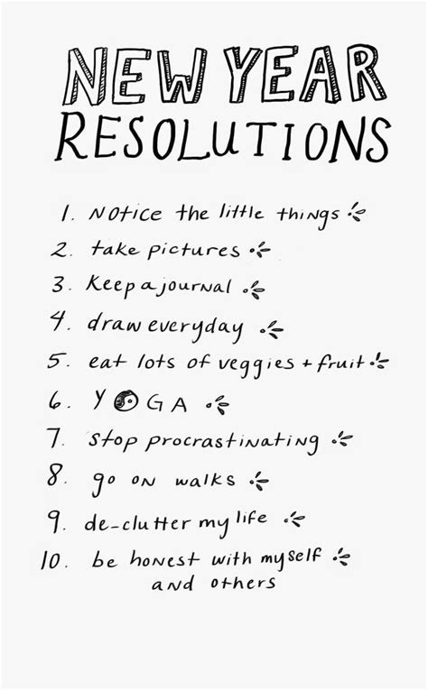 pretty good resolutions  year
