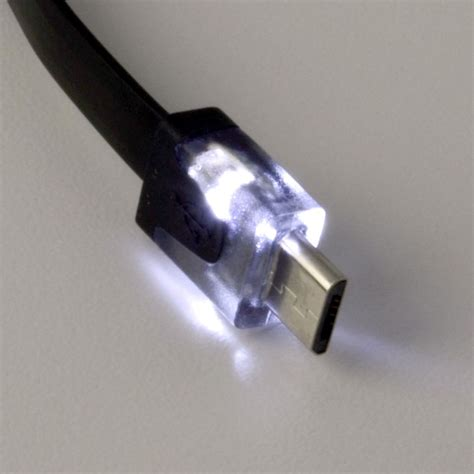 light up usb cable light up micro usb cable led charging cord for android