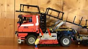 Lego Technic Camion : lego technic camion porte voitures motoris youtube ~ Nature-et-papiers.com Idées de Décoration