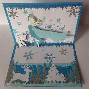 Joyeux Anniversaire Reine Des Neiges : kirigami carte anniversaire la reine des neiges kirigami ~ Melissatoandfro.com Idées de Décoration