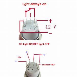 12v 16mm Car Boat Led Light Momentary Horn Button Switch 3
