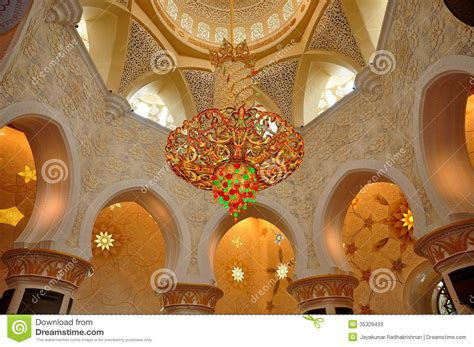 sheikh zayed mosque stock image image of crystals
