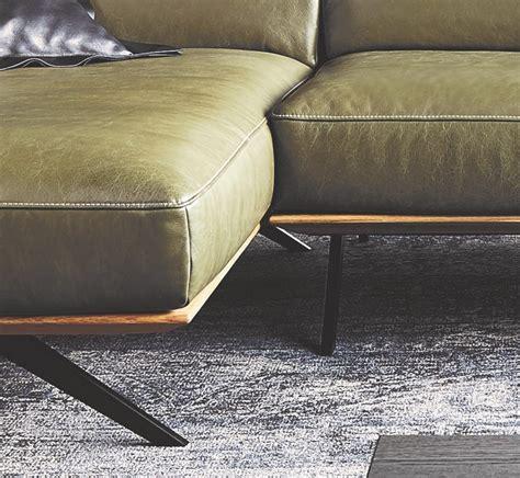canapé profondeur canapé angle design contemporain cuir et bois temperant pm