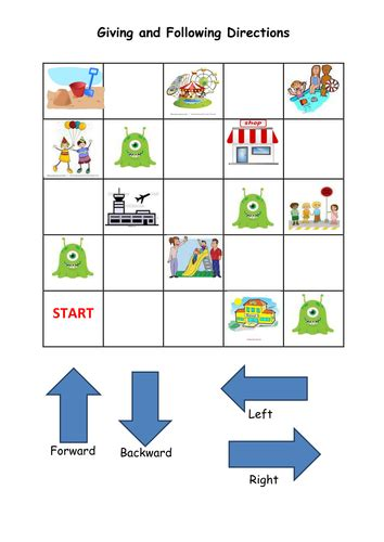 following directions grid activity by noaddedsugar teaching resources tes