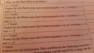 Logarithmus Berechnen Ohne Taschenrechner : fl che unter funktionsgraphen bestimmen mathelounge ~ Themetempest.com Abrechnung