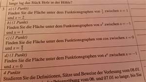 Fläche Unter Graph Berechnen : fl che unter funktionsgraphen bestimmen mathelounge ~ Themetempest.com Abrechnung