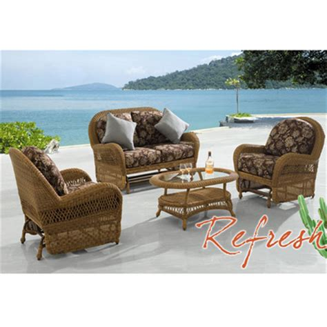 refresh outdoor wicker patio furniture bahama winds