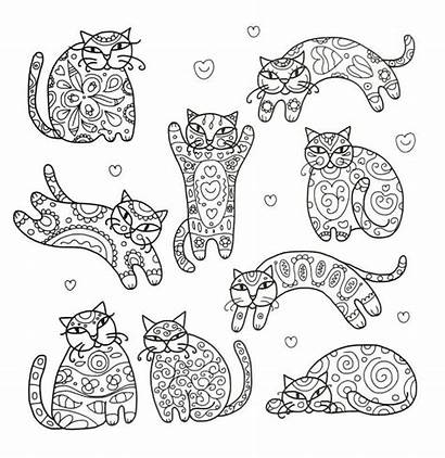 Coloring Pages Animal Fancy Cat Adult Cats