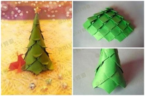 origami christmas decorations step by step tree how to part 3
