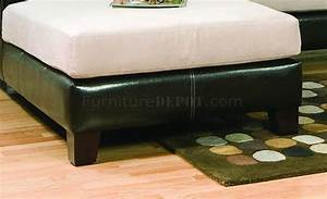 beige microfiber modern sectional sofa w dark bycast base With dark beige sectional sofa