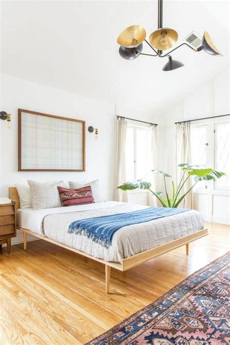 bett schlafzimmer schlafzimmer einrichtung trend bett minimalistisch parkett