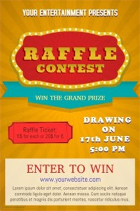enter to win template design a winning raffle flyer postermywall