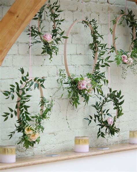 jasmine floral hoops www lukeandlottie co uk wedding