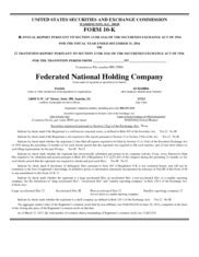 Free federated auto insurance quotes! Federated National Holding Co - AnnualReports.com