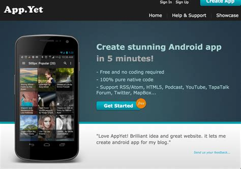 3 popular website to create android apps yourself