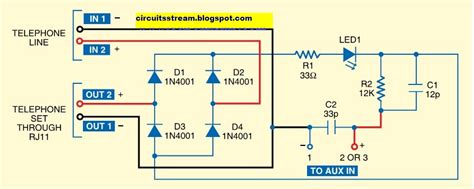 Telephone Wiring Voltage by Telephone And Intercoms Circuit Diagrams And Schematic