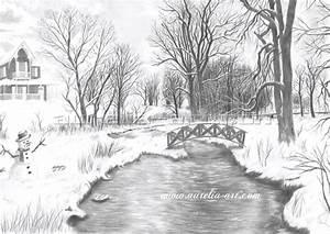 Pencil Drawing Nature 13 HD Wallpaper Wallpaper | PENCIL ...