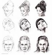 Female Face Line Drawi...
