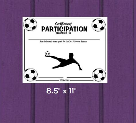 soccer certificate templates  psd ai indesign word