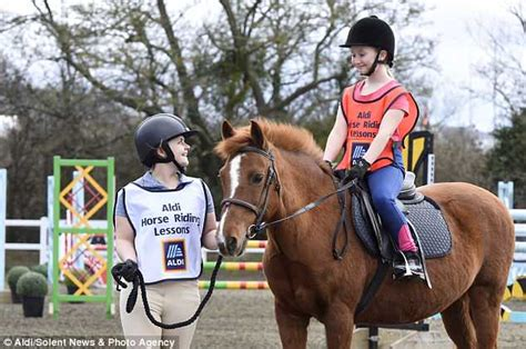 riding horse aldi lessons encourages partnership ages return come through go cost