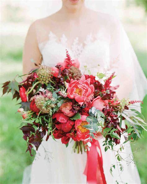 romantic red wedding bouquets martha stewart weddings